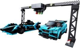 LEGO 76898 Formula E Panasonic Jaguar Racing GEN2 car & Jaguar I-PACE eTROPHY赛车