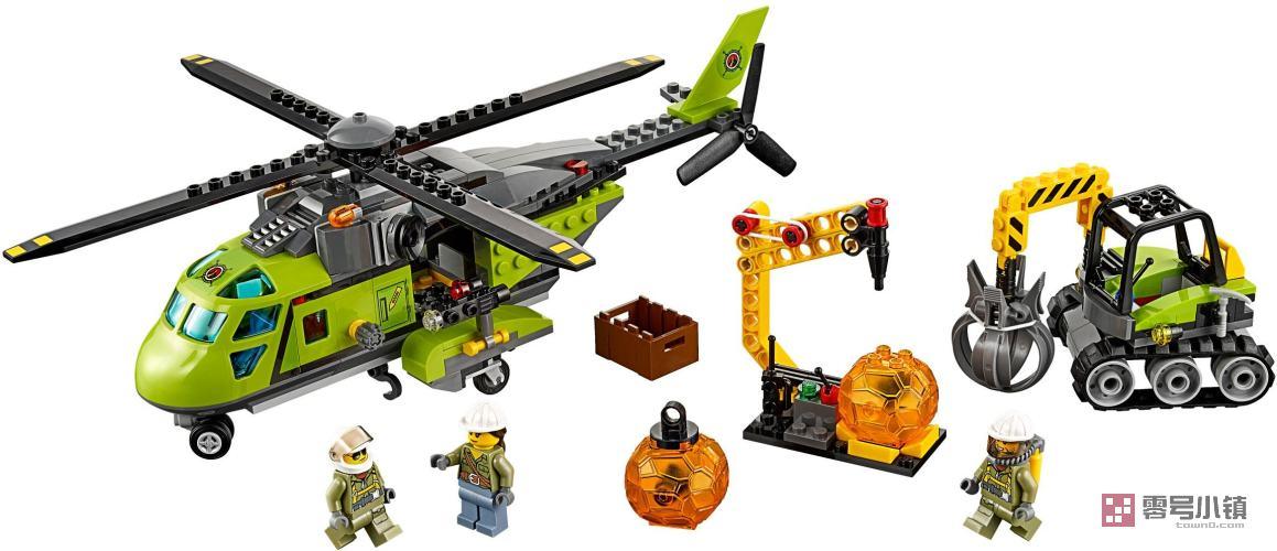 米 26直升机_60123:火山探险运输直升机 | 零号小镇 - 乐高积木社区